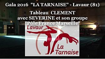 Clément BOULLY salarié du Club de la Tarnaise à Lavaur a présenté son tableau