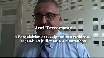 TERRORISME  le RAID à #Montauban jeudi 28 juillet 2016 comme le précise Pierre BESNARD Prefet 82.  1 personne suspectée de terrorisme, assignée à résidence