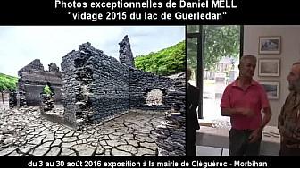 Exposition Photos de la Vidange du Lac de Guerledan par Daniel Mell à la mairie de Cléguérec (56) du 3 au 30 août 2016. #Guerledan