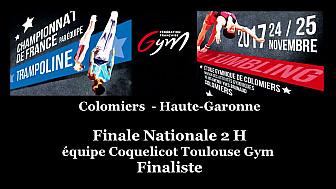 Championnat de France 2017  de Tumbling par équipe :  Coquelicot Toulouse finaliste n'accède pas au podium @ffgymnastique